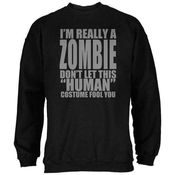 Halloween Human Zombie Costume Black Adult Sweatshirt