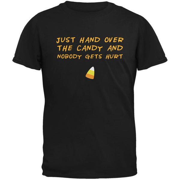 Halloween Just Hand Over The Candy Black Adult T-Shirt