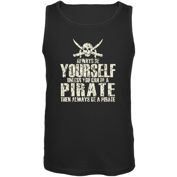 Always Be Yourself Pirate Black Adult Tank Top