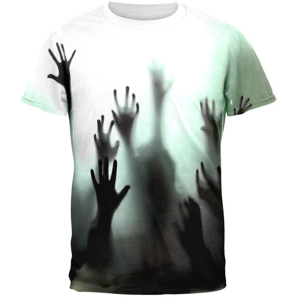 Halloween Zombie Hands All Over Adult T-Shirt