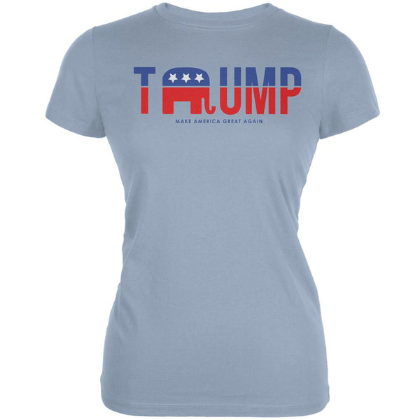Election 2016 Trump Make America Great Again Light Blue Juniors Soft T-Shirt