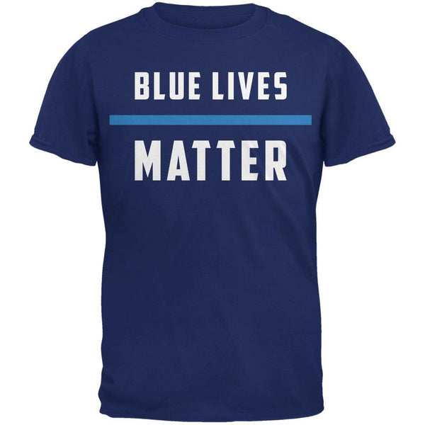 Police Blue Lives Matter Thin Blue Line Metro Blue Adult T-Shirt