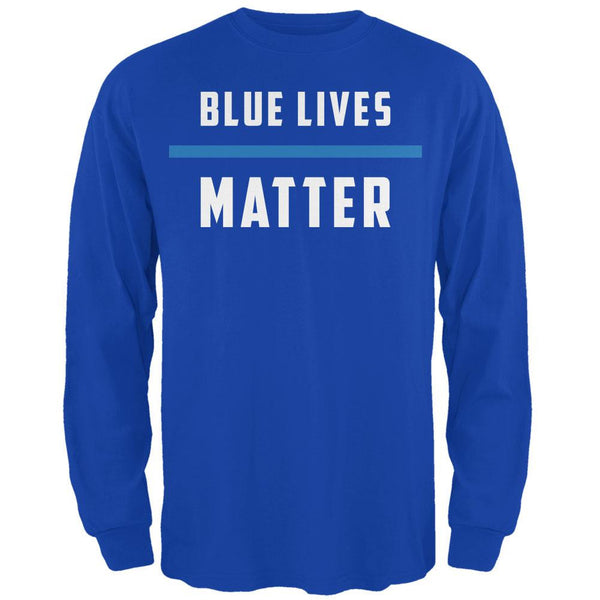 Police Blue Lives Matter Thin Blue Line Royal Adult Long Sleeve T-Shirt