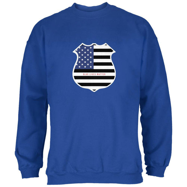 Blue Lives Matter Flag Badge Royal Adult Sweatshirt
