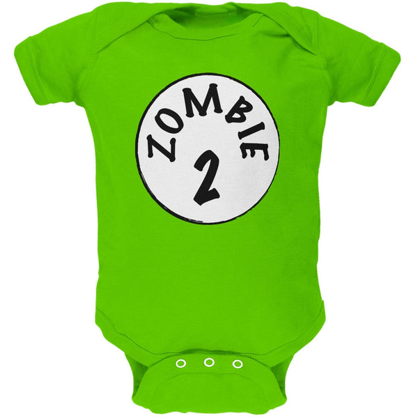 Halloween Zombie 2 Two Costume Apple Green Soft Baby One Piece