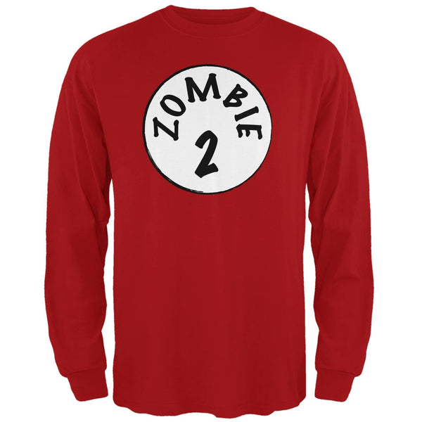 Halloween Zombie 2 Two Costume Red Adult Long Sleeve T-Shirt