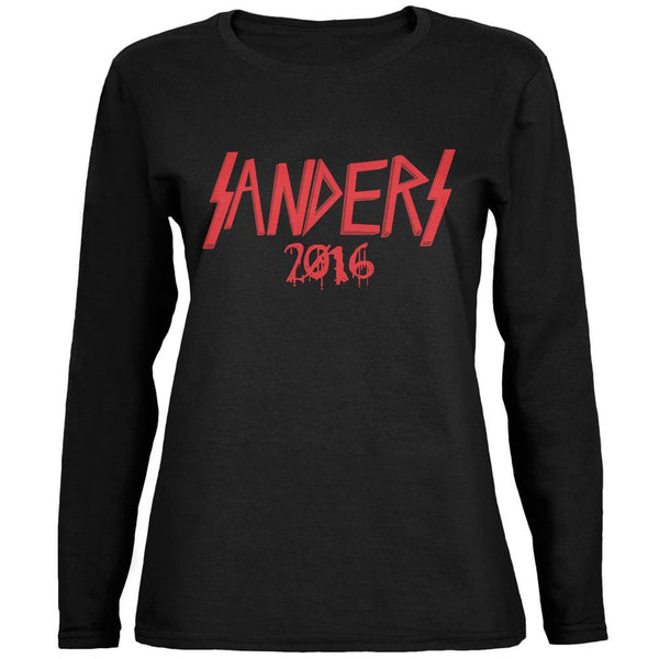 Election 2016 Bernie Sanders 2016 Metal Head Black Womens Long Sleeve T-Shirt