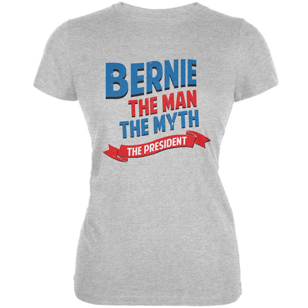 Election 2016 Bernie The Man The Myth Grey Juniors Soft T-Shirt