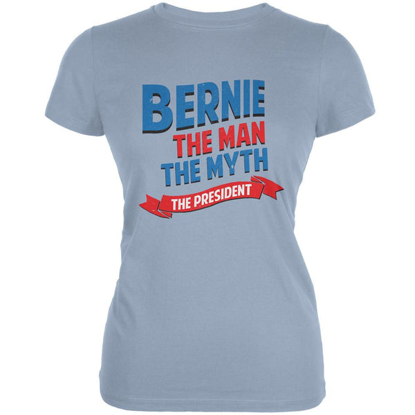 Election 2016 Bernie The Man The Myth Light Blue Juniors Soft T-Shirt