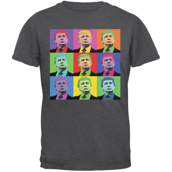 Election 2016 Donald Trump Pop Art Squares Dark Heather Adult T-Shirt
