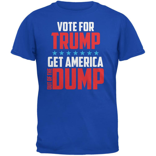 Election 2016 America In The Dump Vote For Trump Royal Adult T-Shirt
