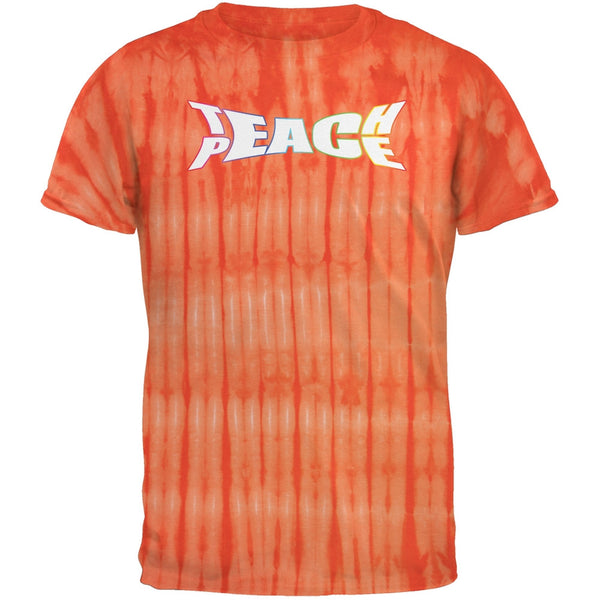 Teach Peace Bamboo Orange Tie Dye Adult T-Shirt