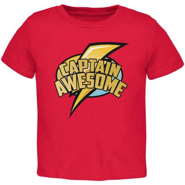 Captain Awesome Red Toddler T-Shirt