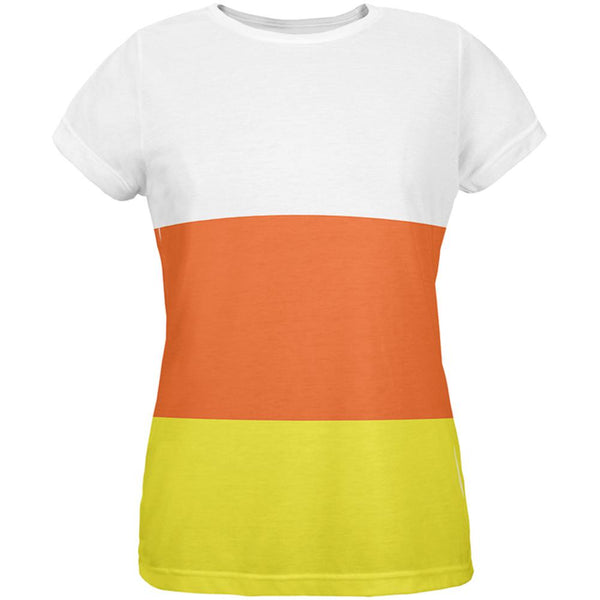 Halloween Candy Corn Costume All Over Womens T-Shirt