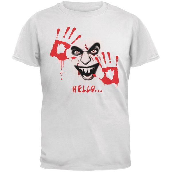 Halloween Hello... White Adult T-Shirt