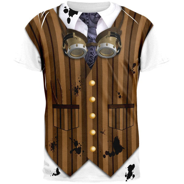 Halloween Steam Punk Engineer Costume All Over Adult T-Shirt
