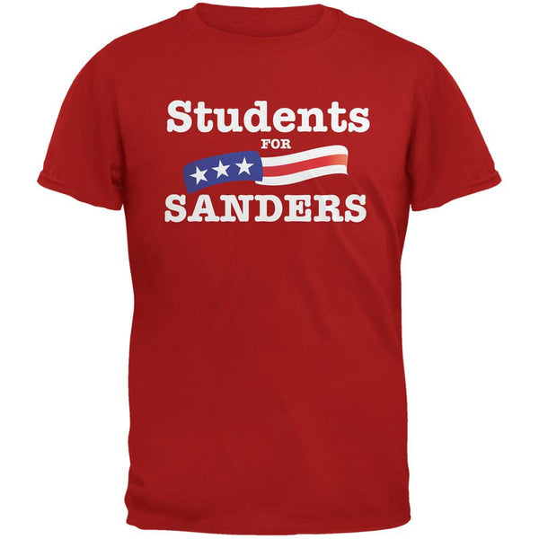 Election 2016 Students For Sanders Red Adult T-Shirt