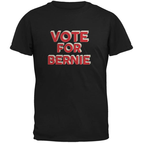 Election 2016 Vote For Bernie 3D Black Adult T-Shirt