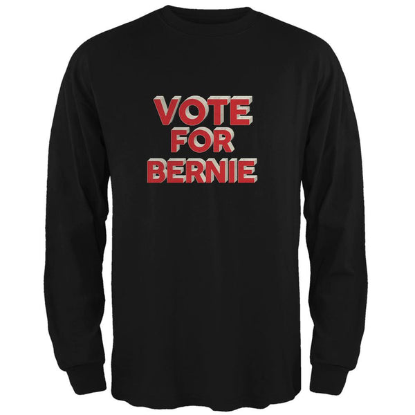 Election 2016 Vote For Bernie 3D Black Adult Long Sleeve T-Shirt