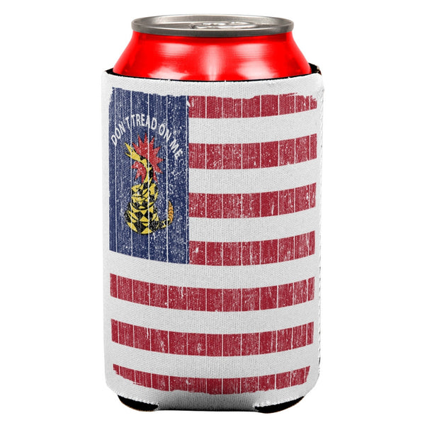 American Gadsden Flag Distressed All Over Can Cooler