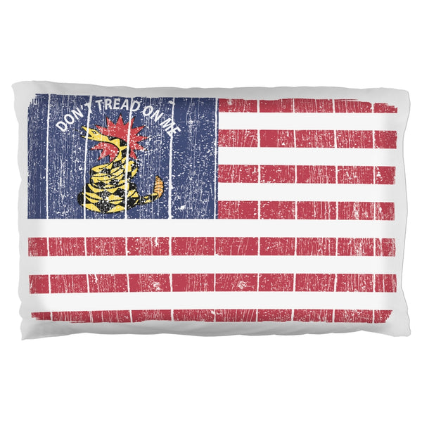 American Gadsden Flag Distressed Pillow Case
