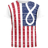 American Metis Flag Distressed All Over Adult T-Shirt