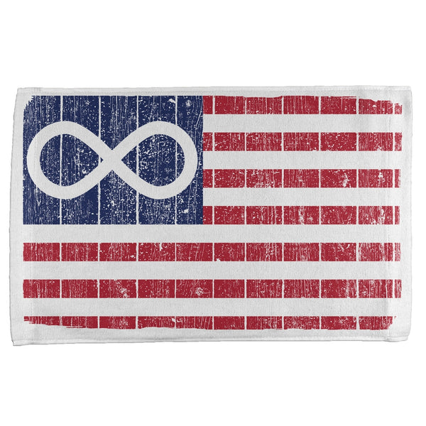 American Metis Flag Distressed All Over Sport Towel