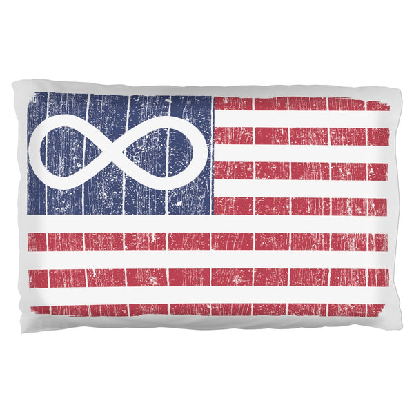 American Metis Flag Distressed Pillow Case