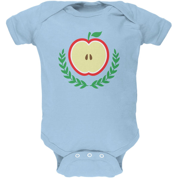 Baby Shower Theme Apple of My Eye Light Blue Soft Baby One Piece