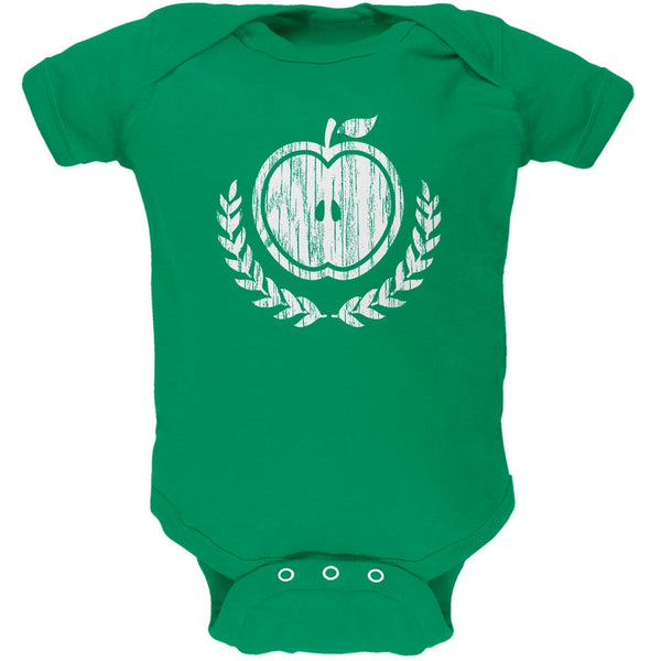 Baby Shower Theme Apple of My Eye Rustic Kelly Green Soft Baby One Piece