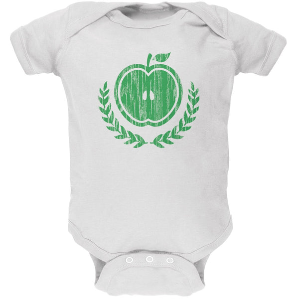 Baby Shower Theme Apple of My Eye Rustic White Soft Baby One Piece