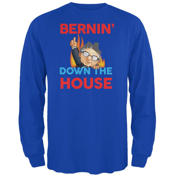 Election 2016 Bernie Bernin' Down Royal Adult Long Sleeve T-Shirt
