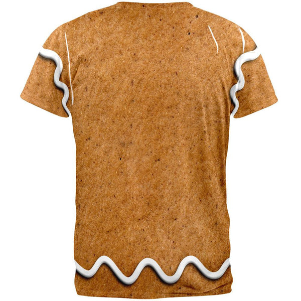 Gingerbread Man Costume All Over Adult T-Shirt