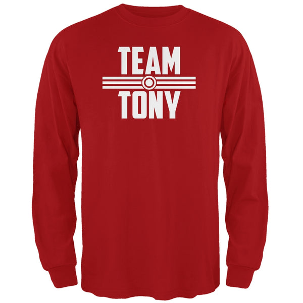 Civil War Team Tony Red Adult Long Sleeve T-Shirt