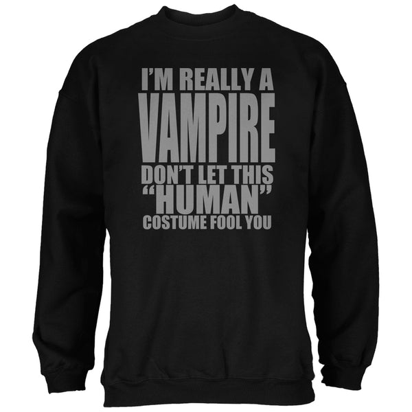 Halloween Human Vampire Costume Black Adult Sweatshirt