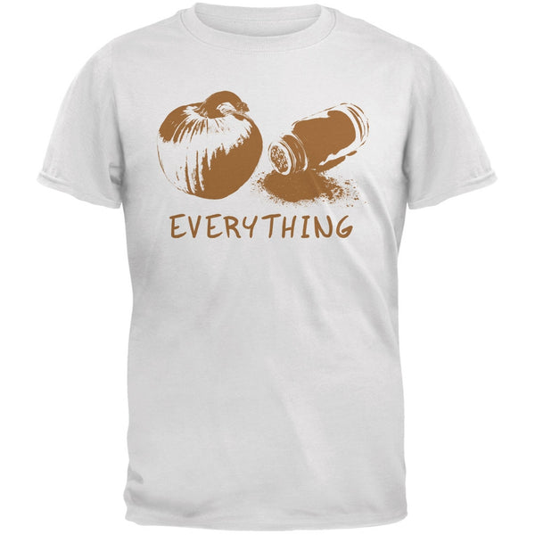 Pumpkin Spice Everything White Adult T-Shirt
