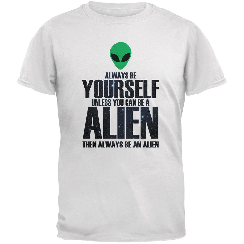 Halloween Always Be Yourself Alien White Youth T-Shirt