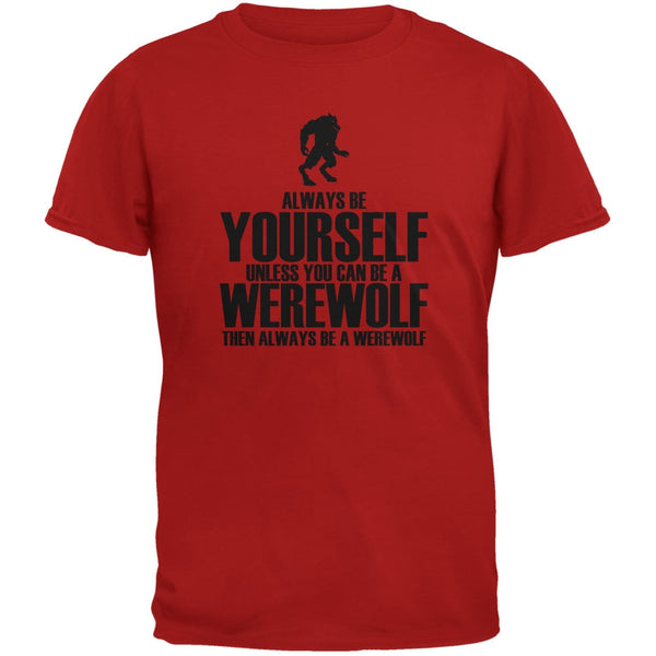 Halloween Always Be Yourself Werewolf Red Youth T-Shirt