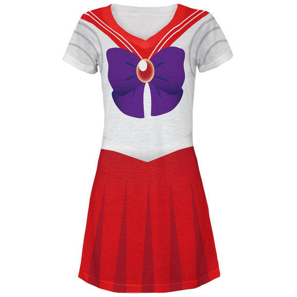 Anime Mars Sailor Costume All Over Juniors V-Neck Dress