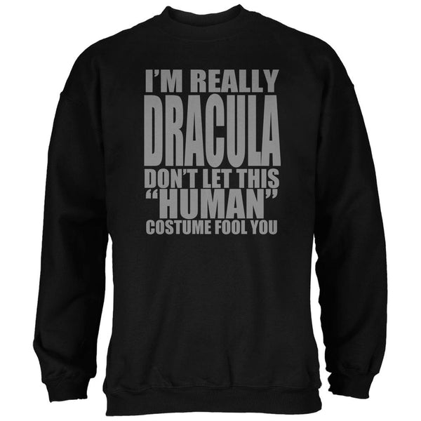 Halloween Human Dracula Costume Black Adult Sweatshirt