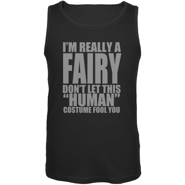 Halloween Human Fairy Costume Black Adult Tank Top