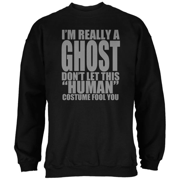 Halloween Human Ghost Costume Black Adult Sweatshirt