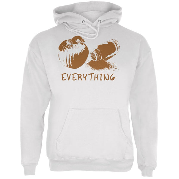 Pumpkin Spice Everything White Adult Hoodie