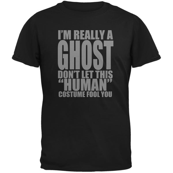 Halloween Human Ghost Costume Black Youth T-Shirt