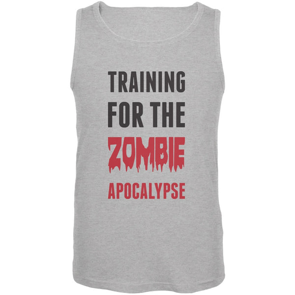 Training for the Zombie Apocalypse Heather Grey Adult Tank Top