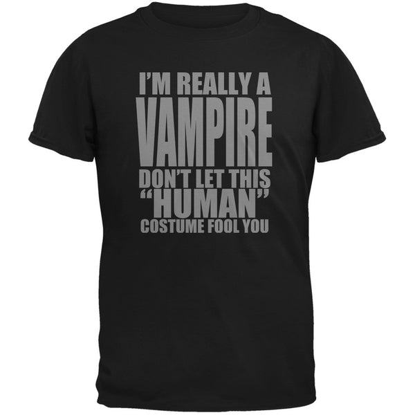 Halloween Human Vampire Costume Black Youth T-Shirt