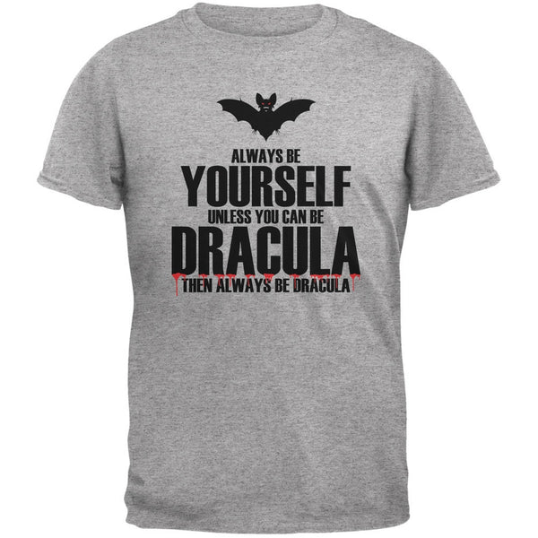 Halloween Always Be Yourself Dracula Heather Grey Youth T-Shirt