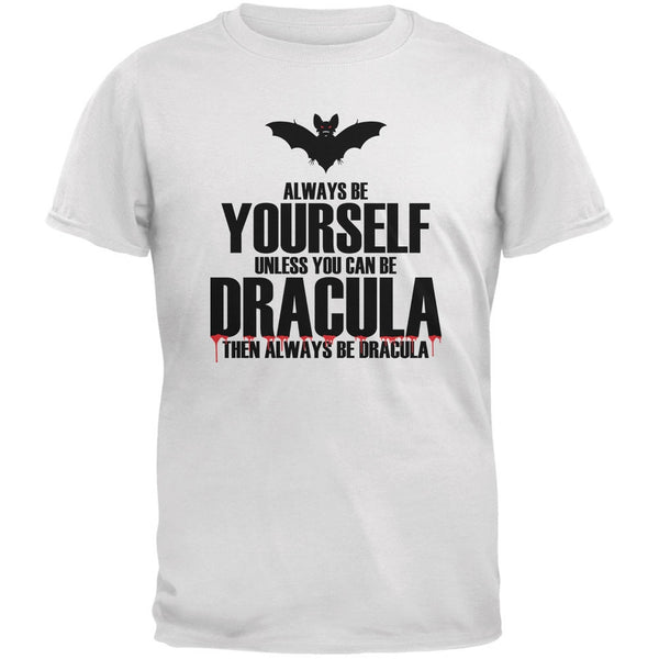 Halloween Always Be Yourself Dracula White Youth T-Shirt