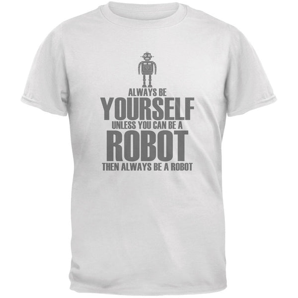 Halloween Always Be Yourself Robot White Youth T-Shirt