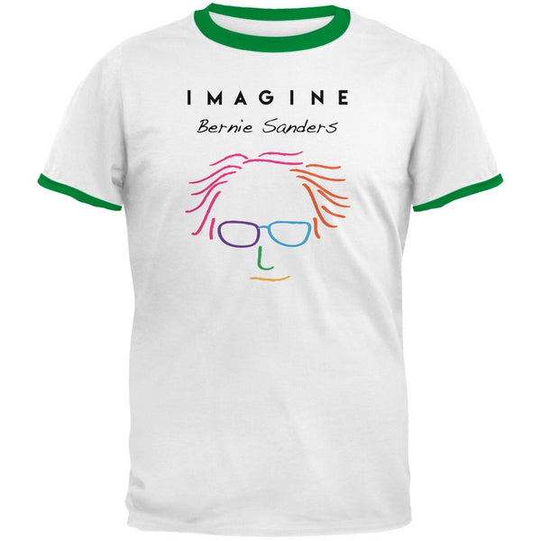 Election 2016 Bernie Sanders Imagine White-Kelly Men's Ringer T-Shirt